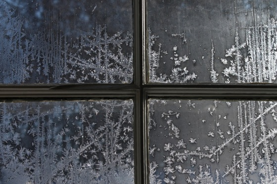 window, winter, frost,