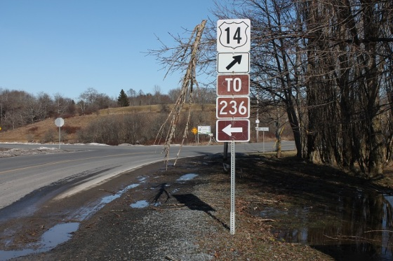 sign, Route 14, branch,