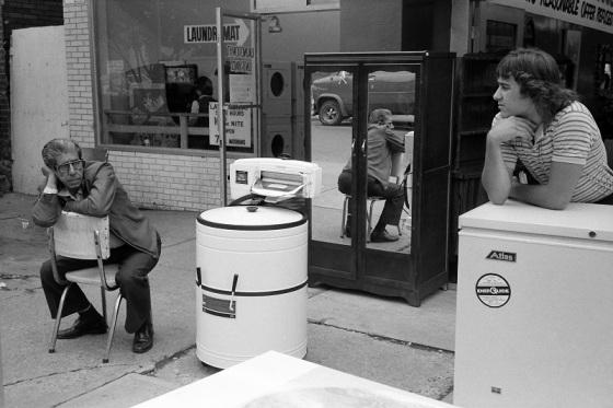 people, street, ringer washer,