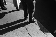 feet, legs, shadows, street,