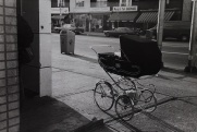Danforth Avenue, Toronto, baby stroller,