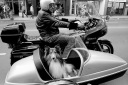 motorcycle, sidecar, dog,