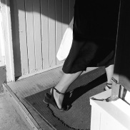 doorway, high heel, leg,