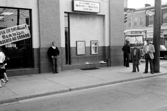 Toronto, 1983, street, Dundas West and Ossington