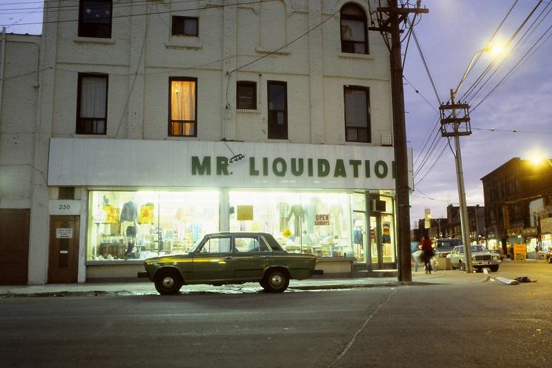 Toronto, street, car, Lada, night, 1984,