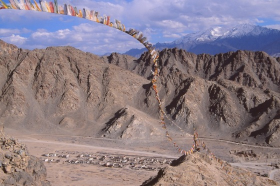 Leh, Ladakh, India, prayer flags,