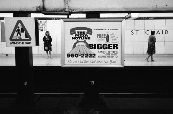 Toronto, subway, St. Clair, 1984,