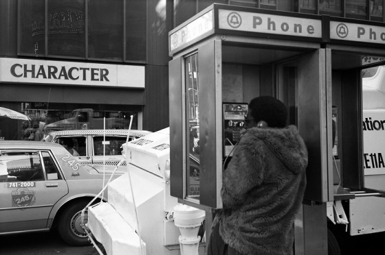 New York, phone booth, 1983,