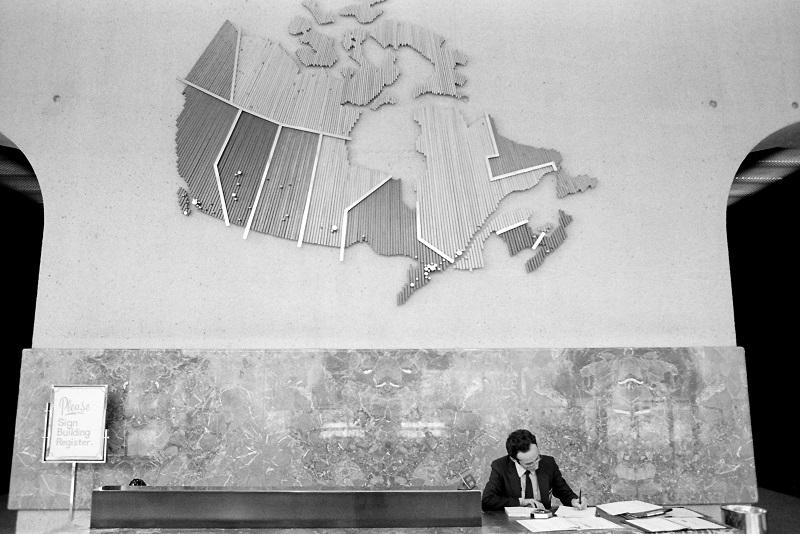 Canada, map, Toronto, 1983