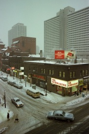 Toronto, 1982, Yonge Street, winter,