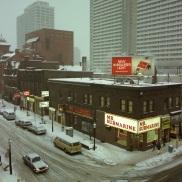 Toronto, 1982, Yonge Street, winter,