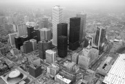 Toronto, downtown core, aerial view, 1982,