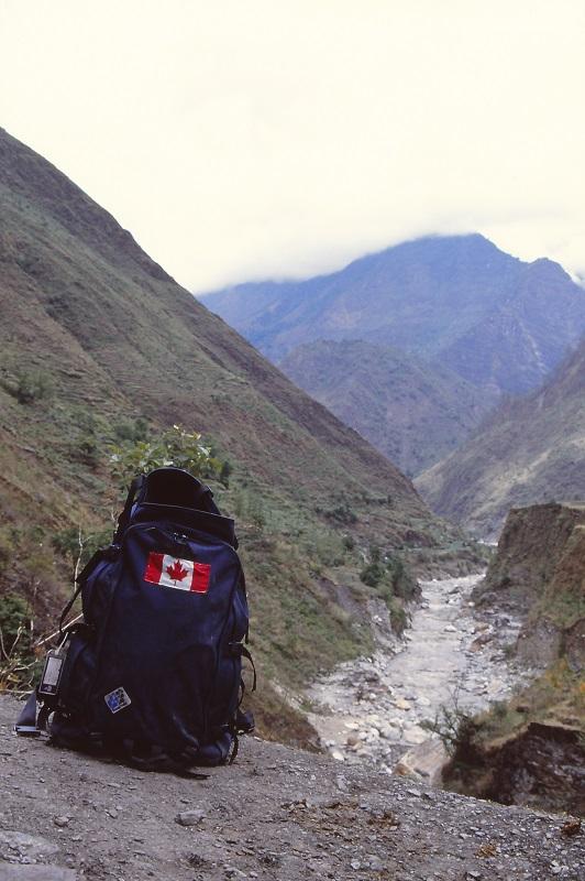 Annapurna circuit, Nepal, trekking, Kali Gandaki River, 1989