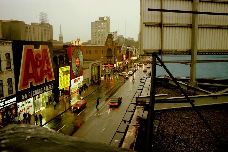 Yonge Street, Toronto, 1982, colour,