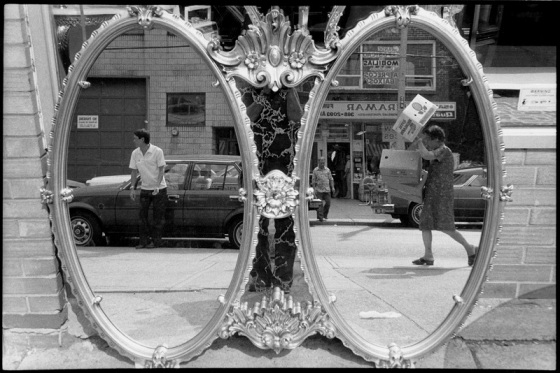 mirror, street photography, Toronto, 1983