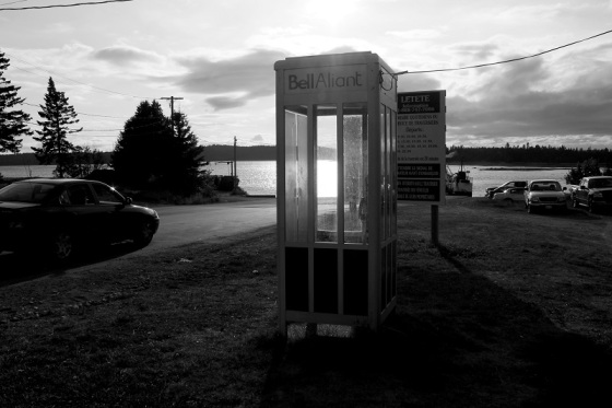 phone booth, Back Bay, NB,