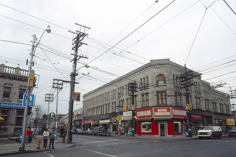 Dundas West and Keele, Toronto, 1984