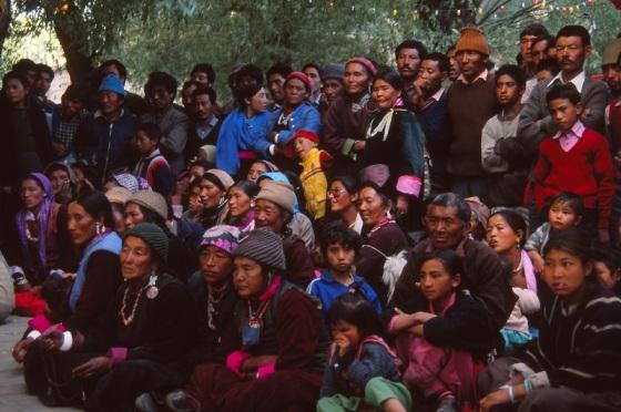 Leh, India, crowd, faces