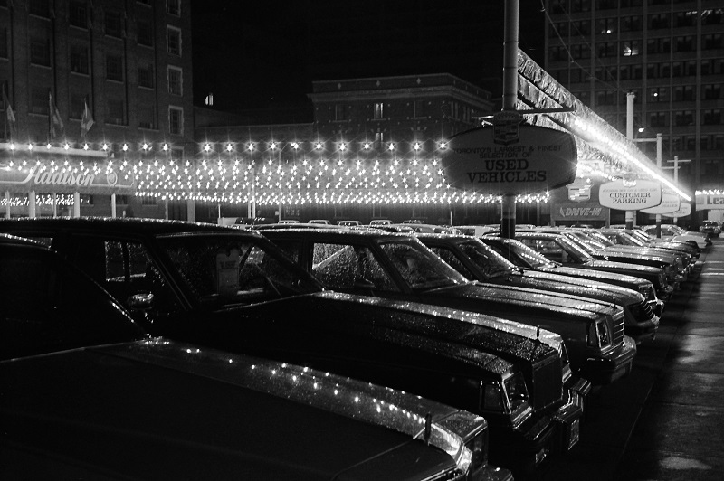 Car Lot, Toronto,1983