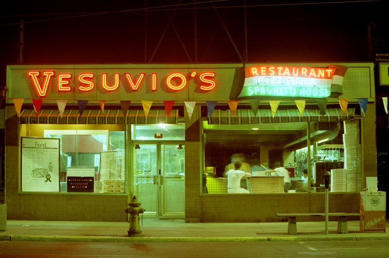 Vesuvio Pizzeria, Toronto,1982