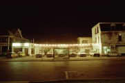 Used cars, Toronto, 1982, night,