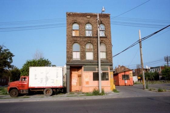 abandoned building, Toronto, 1983,