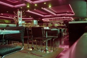 restaurant interior, neon, Bloor Street Diner, 1983,