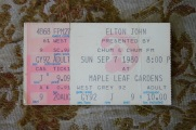 Elton John, Maple Leaf Gardens, 1980, Terry Fox,