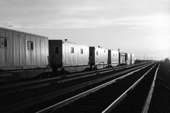 Railway gang, Alberta, 1979,
