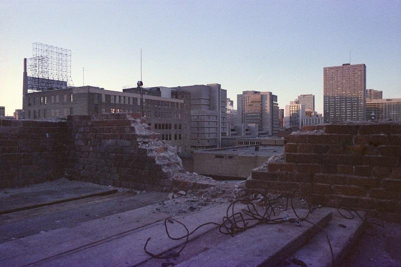 Ruins of Bond Street Congregational Church, Toronto,1981