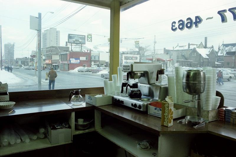 Toronto, restaurant interior, 1982,