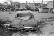 Toronto, abandoned car, 1983