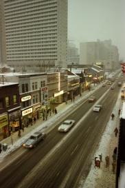 Yonge Street, rooftop view, 1982