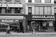 MsDonalds, Burger King, Yonge Street, Toronto, 1981,