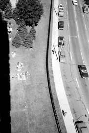 aerial view, street, Toronto, sun bathers,