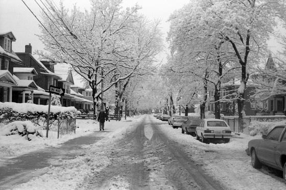 Toronto, snow, 1982,