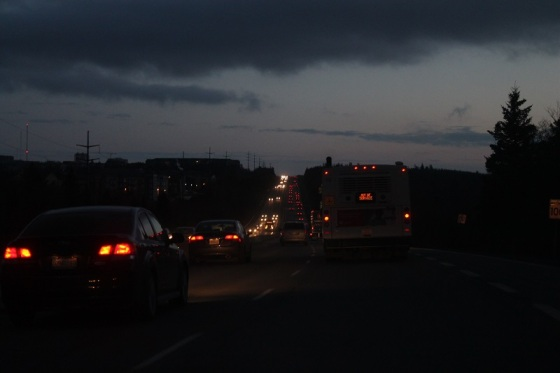 Bedford, NS, evening traffic,