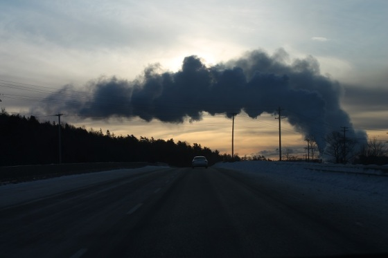 smoke, pollution, Highway 101, Nova Scotia