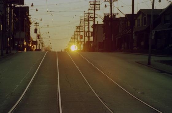 Sunrise on Gerrard East, Toronto, 1982 , Avard Woolaver , Toronto Flashback,