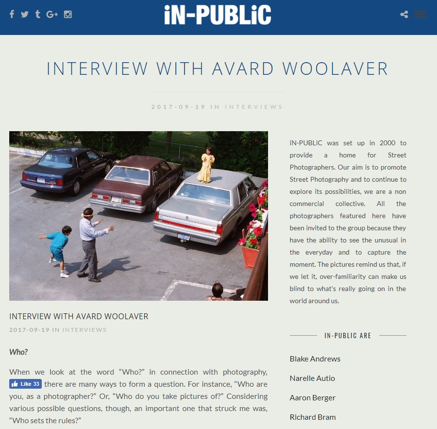 iN-PUBLiC Interview with Avard Woolaver