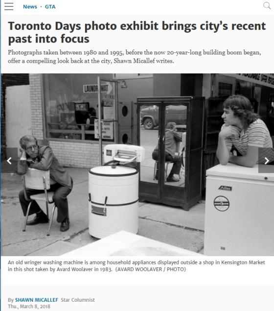 Toronto Star, newspaper article, Toronto Days, Avard woolaver, Shawn Micallef