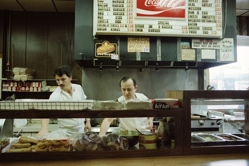 Raffles Burgers, Dundas East and Bond, Toronto, 1981