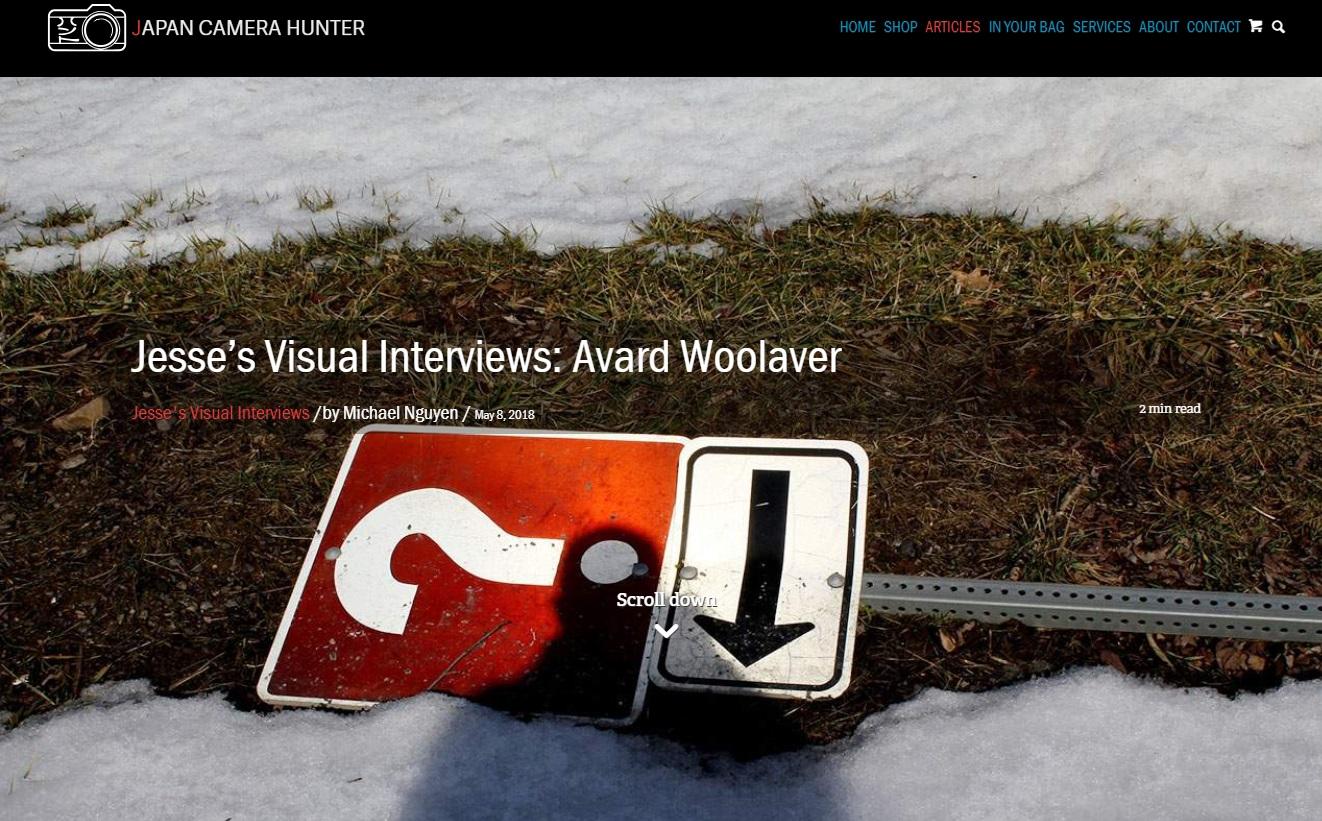 Jesse's Visual Interviews: Avard Woolaver – Japan CameraHunter